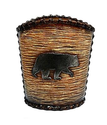 Loon Peak Grotto Bear Waste Basket