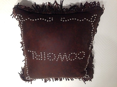 Loon Peak Derrick Cowgirl Studded Throw Pillow
