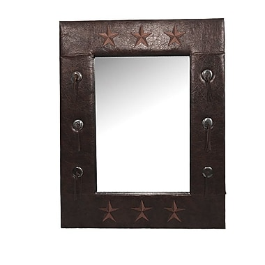 Loon Peak Alexis Star Faux Leather Mirror