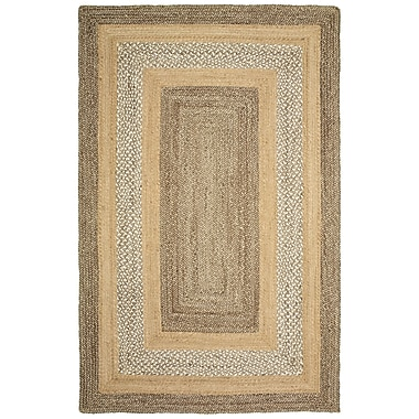 Highland Dunes Lechez Hand-Woven Gray/Beige Area Rug; 3'6'' x 5'6''