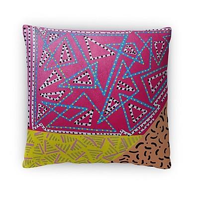 Ivy Bronx Dyal Pattern Fleece Throw Pillow; 16'' x 16''