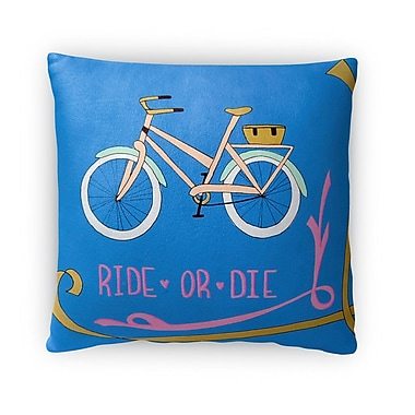 Ivy Bronx Dysart Ride and Die Throw Pillow; 16'' x 16''