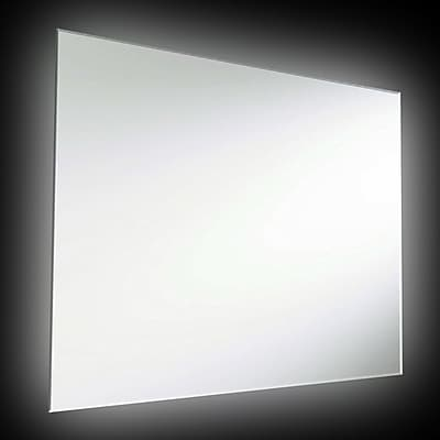Orren Ellis Indi Rectangular Backlit Mirror; 36'' H x 26'' W x 1.5'' D