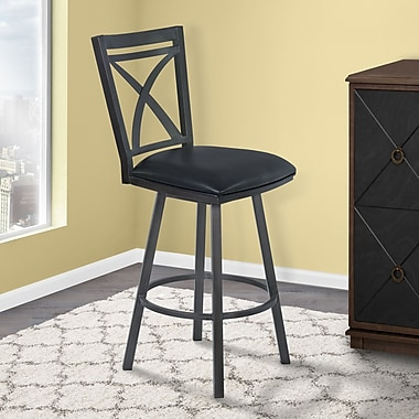 Orren Ellis Bonnett 30'' Swivel Bar Stool; Mineral