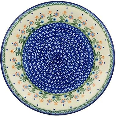Polmedia Spring Flowers Polish Pottery Decorative Plate; 1.38'' H x 11.38' W x 11.38'' D