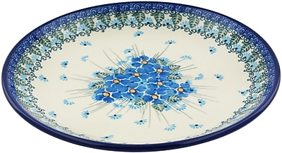 Polmedia Forget Me Not Polish Pottery Decorative Plate; 1.1'' H x 9.33'' W x 9.33'' D