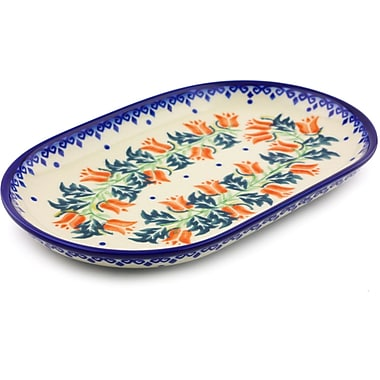 Polmedia California Poppies Platter; 1.34'' H x 10.79'' W x 6.65'' D