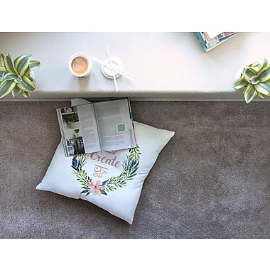 East Urban Home Create Typography Square Floor Pillow; 23'' x 23''