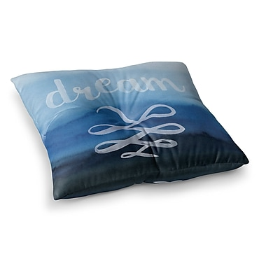East Urban Home Dream Typography Square Floor Pillow; 23'' x 23''