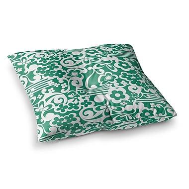East Urban Home Louise Machado Esmerald Square Floor Pillow; 26'' x 26''