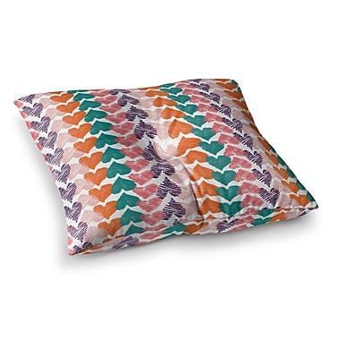 East Urban Home Louise Machado Hearts Square Floor Pillow; 23'' x 23''