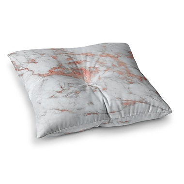 East Urban Home Rose Flake Square Floor Pillow; 26'' x 26''