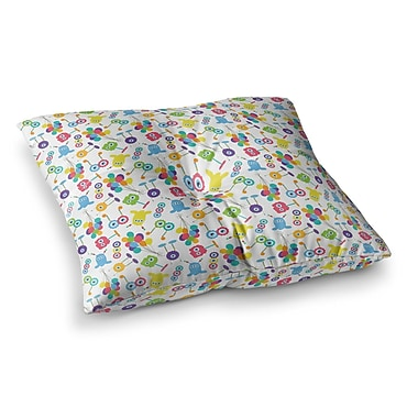 East Urban Home Laura Escalante Fun Creatures Square Floor Pillow; 26'' x 26''