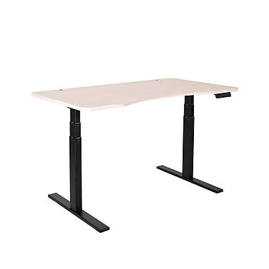 Symple Stuff Rectangular Adjustable Wood Veneer Top Standing Desk; Oak