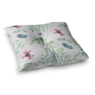 East Urban Home Louise Summer Flower Pattern Square Floor Pillow; 23'' x 23''