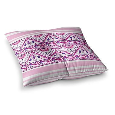 East Urban Home Li Zamperini Aztec Magenta Square Floor Pillow; 23'' x 23''