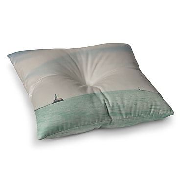 East Urban Home Laura Evans The Lighthouse Photography Square Floor Pillow; 26'' x 26''