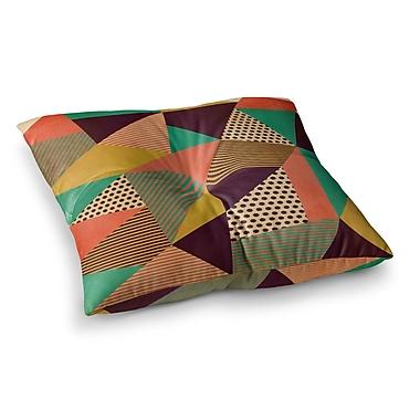 East Urban Home Louise Machado Geometric Love II Square Floor Pillow; 26'' x 26''