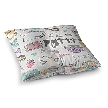 East Urban Home MaJoBV Party Square Floor Pillow; 23'' x 23''