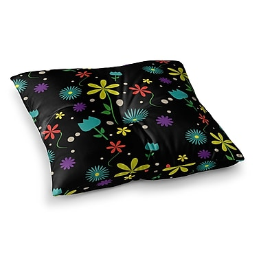 East Urban Home Louise Flower I Square Floor Pillow; 26'' x 26''