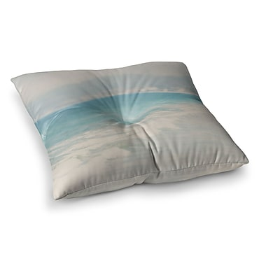 East Urban Home Laura Evans Waves Square Floor Pillow; 26'' x 26''