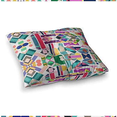 East Urban Home Mareike Boehmer Geometry 2B Abstract Square Floor Pillow; 23'' x 23''