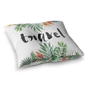 East Urban Home Travel Square Floor Pillow; 26'' x 26''