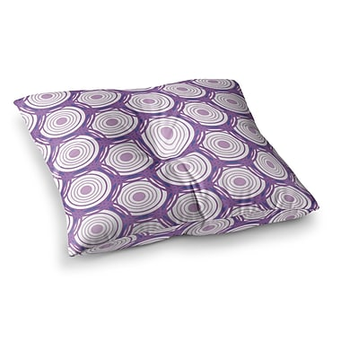 East Urban Home Louise Labyrinth Square Floor Pillow; 26'' x 26''