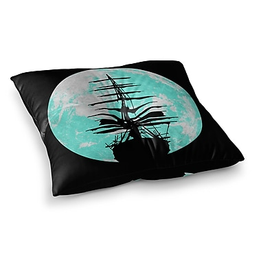 East Urban Home Micah Sager Voyage Square Floor Pillow; 23'' x 23''