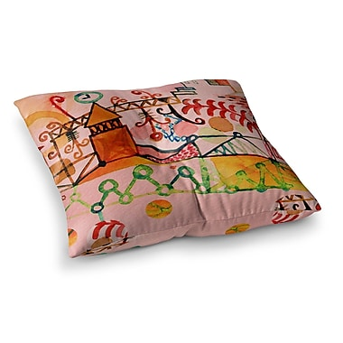 East Urban Home Marianna Tankelevich Happy Town Square Floor Pillow; 26'' x 26''