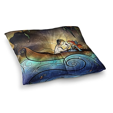 East Urban Home Mandie Manzano Something About Her Mermaid Square Floor Pillow; 23'' x 23''