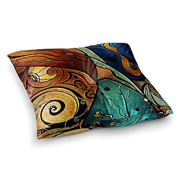 East Urban Home Mandie Manzano Sea Dance Square Floor Pillow; 23'' x 23''