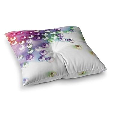 East Urban Home Louise Machado Pearl Square Floor Pillow; 23'' x 23''