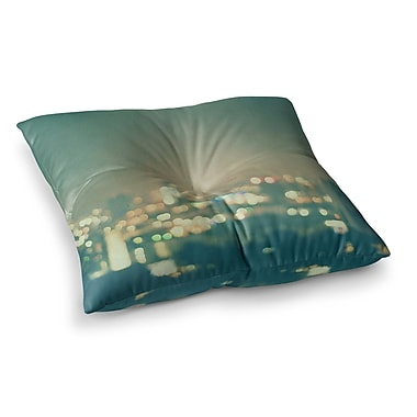 East Urban Home Myan Soffia Anniversary City Lights Square Floor Pillow; 23'' x 23''