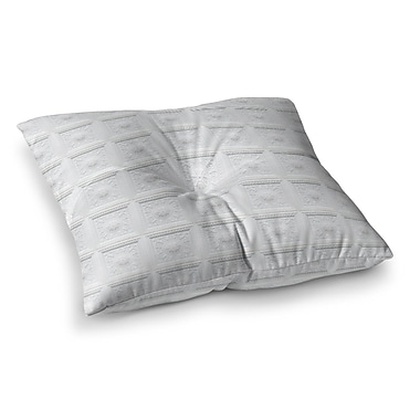 East Urban Home Palace Ceiling Tiles Abstract Square Floor Pillow; 23'' x 23''