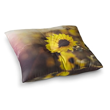 East Urban Home Libertad Leal Magic Light Flower Square Floor Pillow; 23'' x 23''