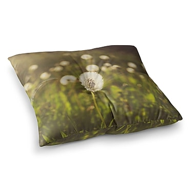 East Urban Home Libertad Leal As You Wish Dandelions Square Floor Pillow; 23'' x 23''