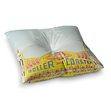 East Urban Home Libertad Leal Life is a Rollercoaster Square Floor Pillow; 23'' x 23''