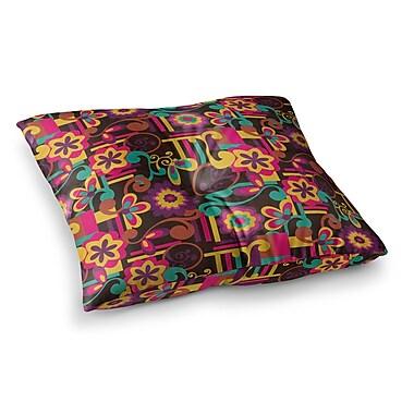 East Urban Home Louise Machado Arabesque Floral Square Floor Pillow; 23'' x 23''