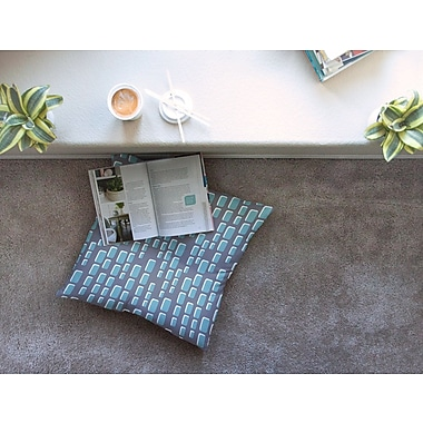East Urban Home Michelle Drew Cubic Geek Chic Square Floor Pillow; 23'' x 23''
