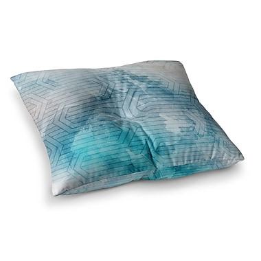 East Urban Home Matt Eklund Frost Labyrinth Square Floor Pillow; 23'' x 23''