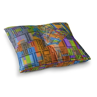 East Urban Home Michael Sussna Tile Rep Abstract Square Floor Pillow; 23'' x 23''