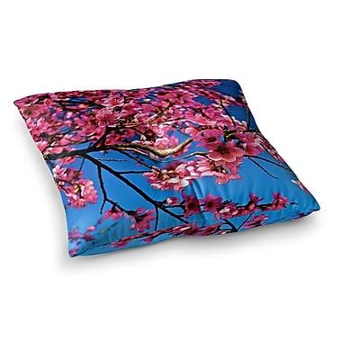 East Urban Home Maynard Logan Flowers Square Floor Pillow; 26'' x 26''