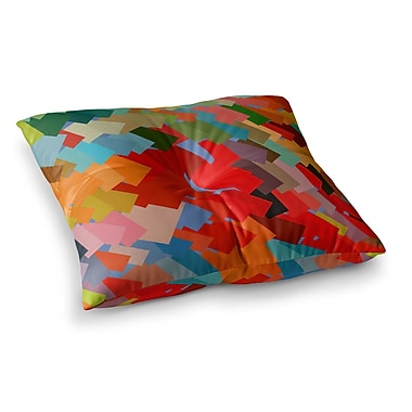 East Urban Home Matthias Hennig Playful Rectangles Square Floor Pillow; 23'' x 23''