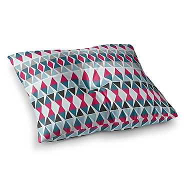 East Urban Home Michelle Drew Triangle Circus Drums Square Floor Pillow; 23'' x 23''