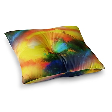 East Urban Home Mimulux Patricia No Good Vibrations Square Floor Pillow; 23'' x 23''
