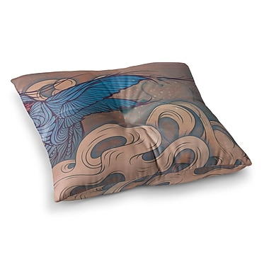 East Urban Home Mat Miller the Aerialist Square Floor Pillow; 26'' x 26''