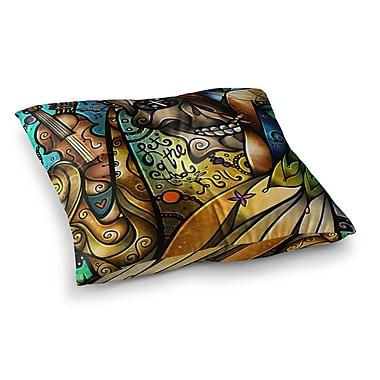 East Urban Home Mandie Manzano Good Times Roll Skull Square Floor Pillow; 26'' x 26''