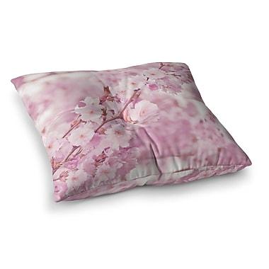 East Urban Home Monika Strigel Endless Cherry Floral Square Throw Pillow; 26'' x 26''