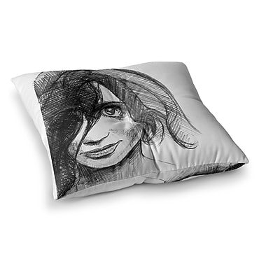 East Urban Home Maria Bazarova Self Portrait Square Floor Pillow; 23'' x 23''